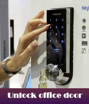 Unlock office door